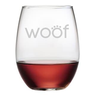Woof Stemless Wine Glasses (Set of 4)