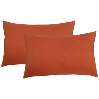 EDIE Microfiber Sonic Quilted Petals Throw Pillow (Set of 2)