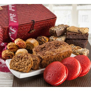 Dulcets Red Wicker Gift Basket