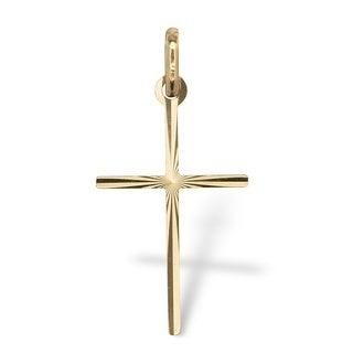 14k Gold Cross Tailored Pendant