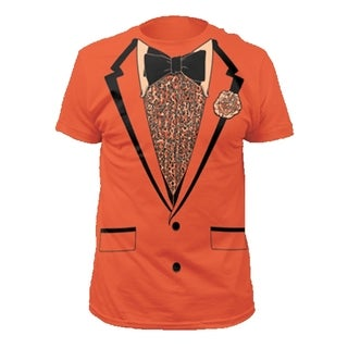 Dumb and Dumber Lloyd Christmas Orange Tuxedo T-shirt