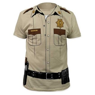 Walking Dead Sheriff Rick Grimes Cotton T-shirt
