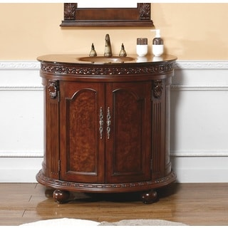 Demilune 36-inch Dark Cherry Single Vanity