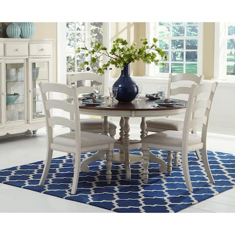 Hillsdale Pine Island Round Wood Dining Table Set