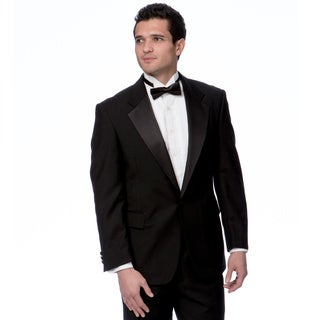 Toscano Men's Two-Piece Black Wool Tuxedo