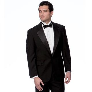 Toscano Men's Two-Piece Black Wool Tuxedo