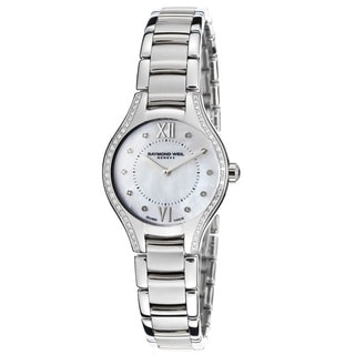 "Raymond Weil Women's 5124-STS-00985 ""Noemia"" Mother of Pearl Diamond Stainless Steel Watch"