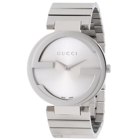 Gucci Women's YA133308 'Interlocking-G' Stainless Steel Watch