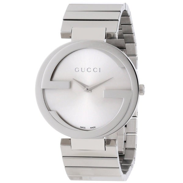c9a8bd31ada Shop Gucci Women s YA133308  Interlocking-G  Stainless Steel Watch - Free  Shipping Today - Overstock - 9778486