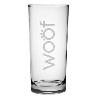 Woof 15-ounce Highball Glasses (Set of 4)