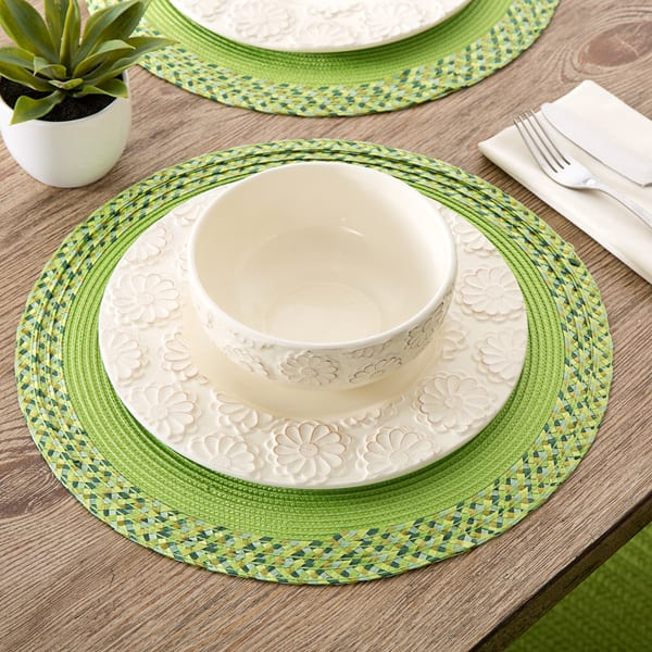 Monaco Border 15 Inch Round Placemats Set Of 4 Overstock 9778515