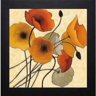 Shirley Novak 'Pumpkin Poppies II' Framed Artwork