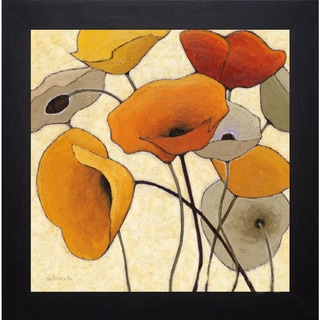 Shirley Novak 'Pumpkin Poppies III' Framed Artwork
