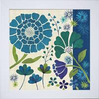 Veronique Charron 'Blue Garden II' Framed Artwork