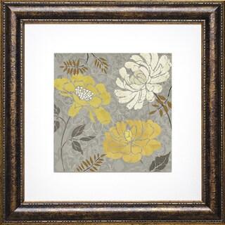 Daphne Brissonnet 'Morning Tones Gold I ' Framed Artwork