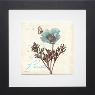 Daphne Brissonnet 'Touch Of Blue I - Peace' Framed Artwork