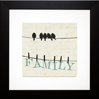 Pela Studio 'Bird Talk III' Framed Artwork