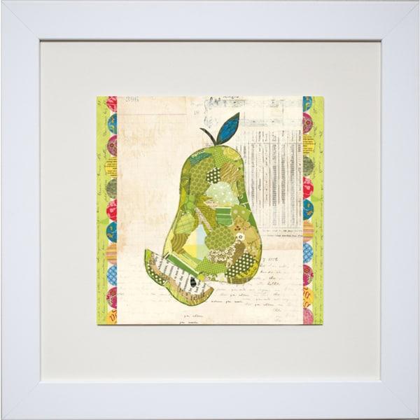 Courtney Prahl 'Fruit Collage I - Pear' Framed Artwork