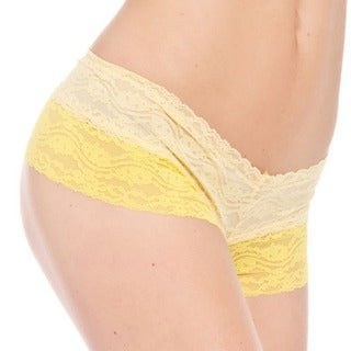 Prestige Biatta Nicole Yellow Lace Cheeky Underwear