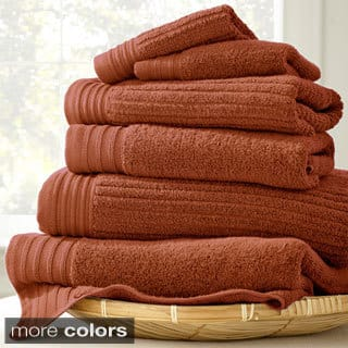 Amraupur Overseas Jacquard/Solid Ribbed 6-piece Towel Set|https://ak1.ostkcdn.com/images/products/9778739/P16948725.jpg?impolicy=medium