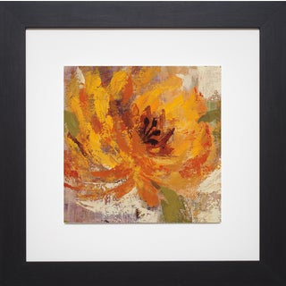 Silvia Vassileva 'Fiery Dahlias I Crop ' Framed Artwork