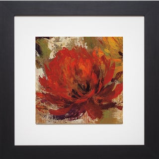 Silvia Vassileva 'Fiery Dahlias II Crop ' Framed Artwork