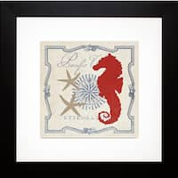 Studio Mousseau 'Pacific Seahorse' Framed Artwork