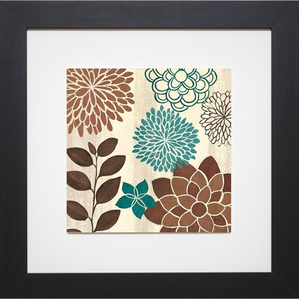 Veronique Charron 'Abstract Garden Blue I ' Framed Artwork