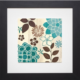 Veronique Charron 'Abstract Garden Blue II' Framed Artwork