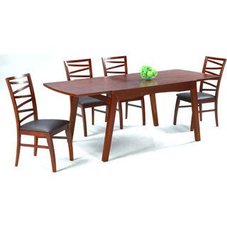 Somette Cher Solid Oak Dining 5-piece Dining Set