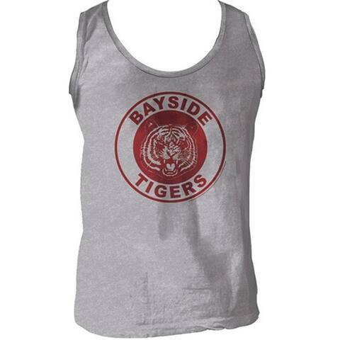 Saved by the Bell Men's Bayside Tigers AC Slater/ Zack Morris Grey Costume Tank Top