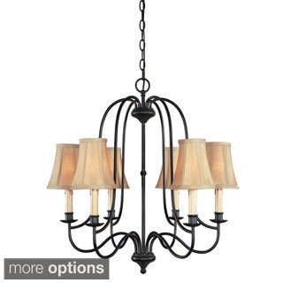 Brondy 6-light or 9-light Aged Ebony Chandelier