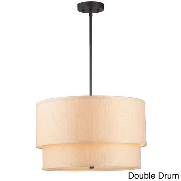 Shop kole 3 light oil rubbed bronze double drum pendant free kole 3 light oil rubbed bronze double drum pendant aloadofball Images