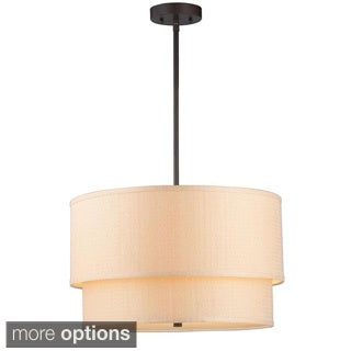 Kole 3-Light Oil-rubbed Bronze Double Drum Pendant