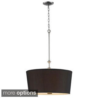 Manoa 3-Light Metal Pendant Fabric Lamp Shade