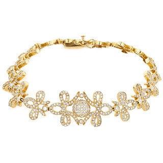 Luxurman 14K Yellow Gold 7.10 ct TDW Diamond Designer Bracelet (G-H, SI1-SI2)