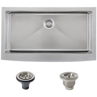 Ticor Stainless Steel Undermount 36-inch Single Bowl Farmhouse Apron Kitchen Sink