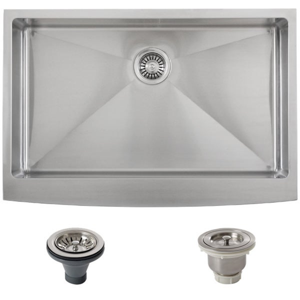 27 Inch Farmhouse Sink: Shop Ticor Stainless Steel Undermount 33-inch Double Bowl