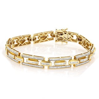 Luxurman 14k Gold Designer 3 3/4ct TDW Diamond Bracelet (H-I, SI1-SI2)
