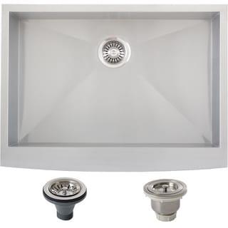 Ticor Stainless Steel Undermount 30-inch Single Bowl Farmhouse Apron Kitchen Sink