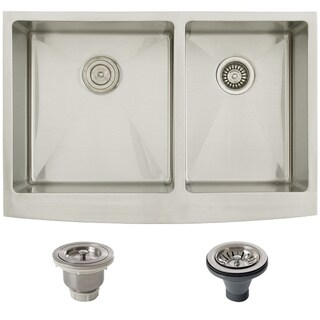 Ticor Stainless Steel Undermount 33-inch Double Bowl Farmhouse Kitchen Sink