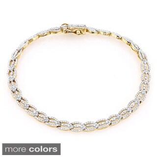Luxurman 14k Gold 1 7/8ct TDW Diamond Bracelet (H-I, I1-I2)
