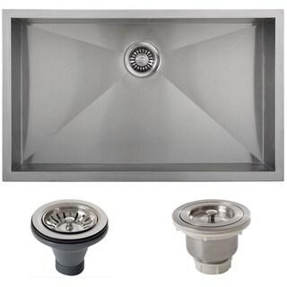 Ticor Stainless Steel Undermount 33-inch Double Bowl Farmhouse Apron Kitchen Sink
