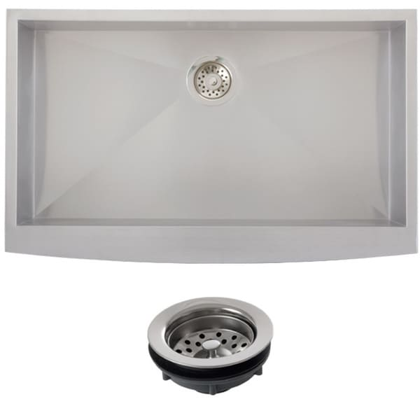 Butterfly Undermount Kitchen Sinks: Shop Ticor Stainless Steel Undermount 36-inch Single Bowl