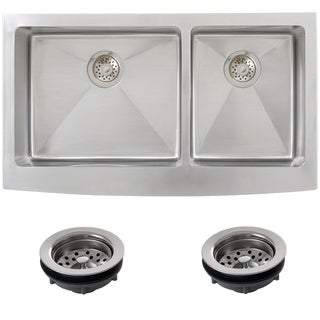 Ticor Stainless Steel Undermount 36 -inch Double Bowl Farmhouse Apron Kitchen Sink