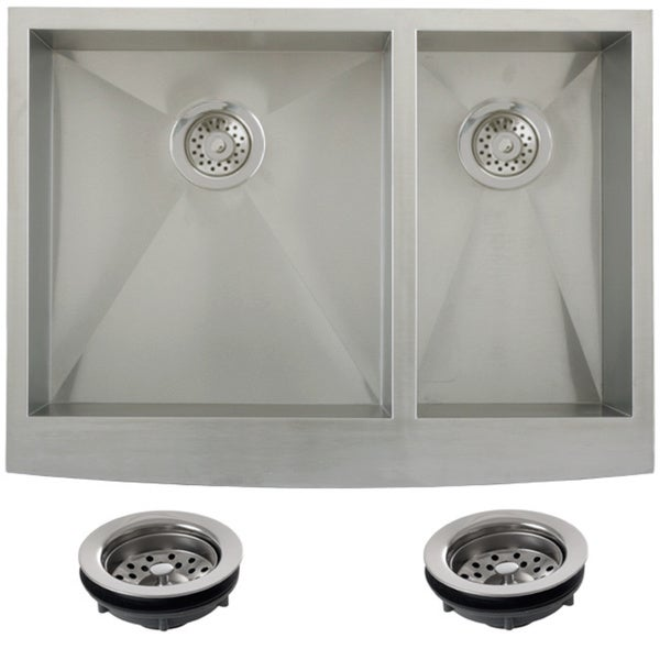 30 inch double bowl kitchen sink shop ticor stainless steel undermount 30 inch bowl 8982