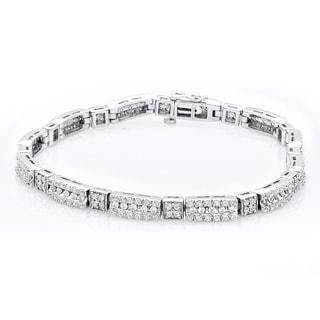 Bridal Symphony 10k White Gold 3ct TDW Diamond Bracelet (I-J, I2-I3)