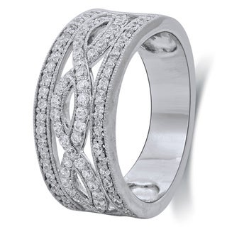 Bridal Symphony 10k White Gold 5/8ct TDW Diamond Anniversary Ring