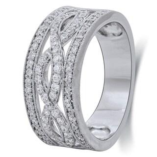Bridal Symphony 10k White Gold 5/8ct TDW Diamond Anniversary Ring