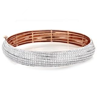 14k Gold 6ct TDW Diamond Bangle Bracelet (G-H, SI1-SI2)